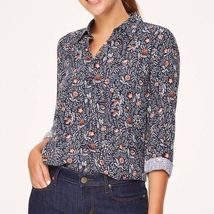 LOFT - Leafed Button Down Top